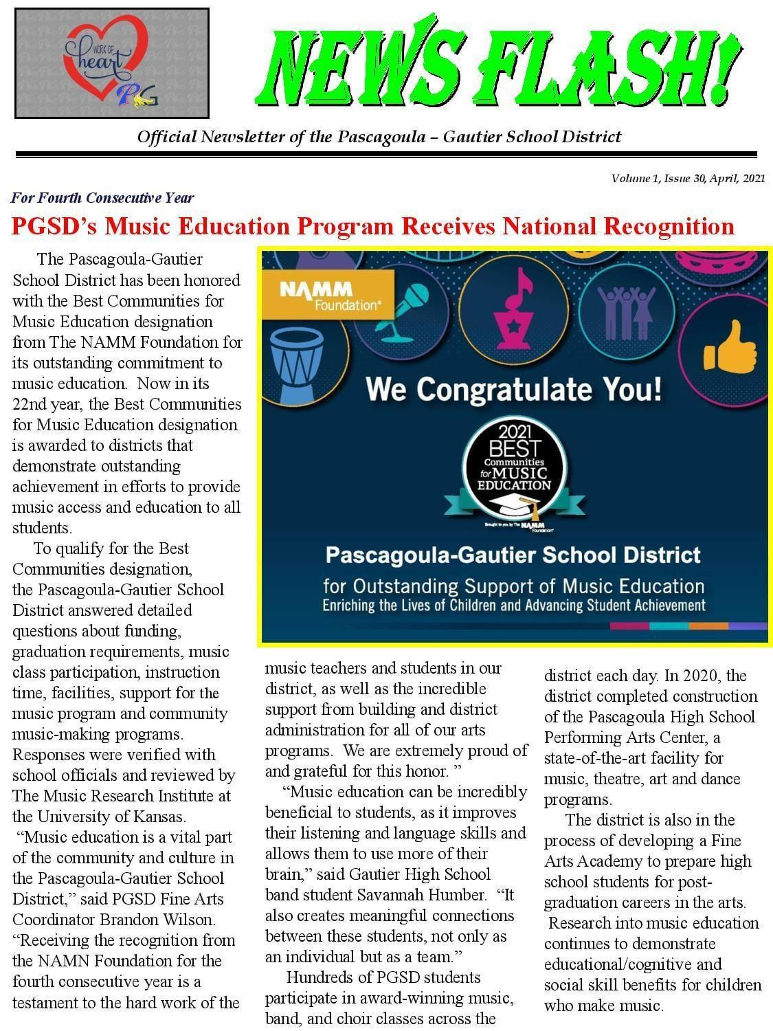 PGSD Music Education earns national recognition