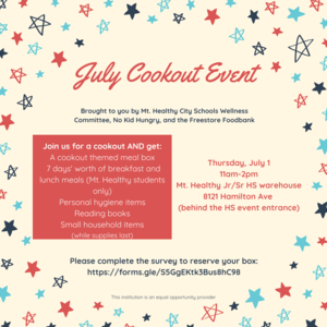 food service july cookout event