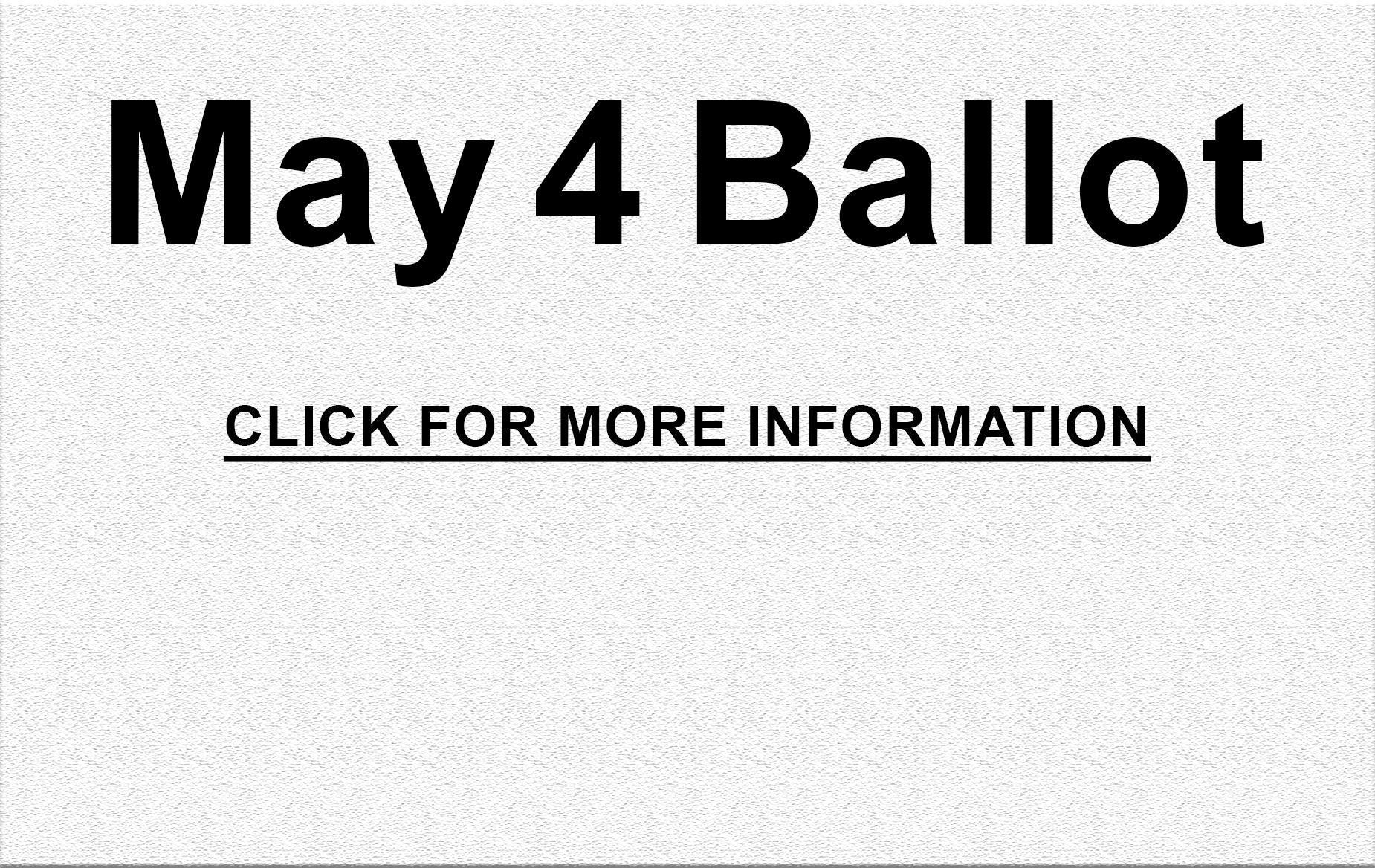 May 4 Ballot Issue