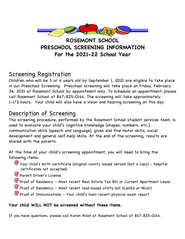 General Information Screening Flyer