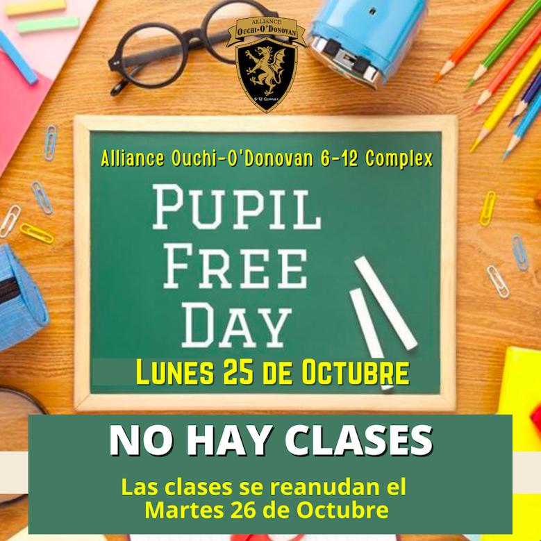 No hay clases- Lunes 25 de octubre- Día sin alumnos Thumbnail Image