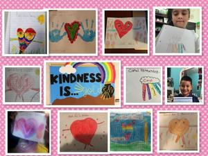 Kindness drawings collage