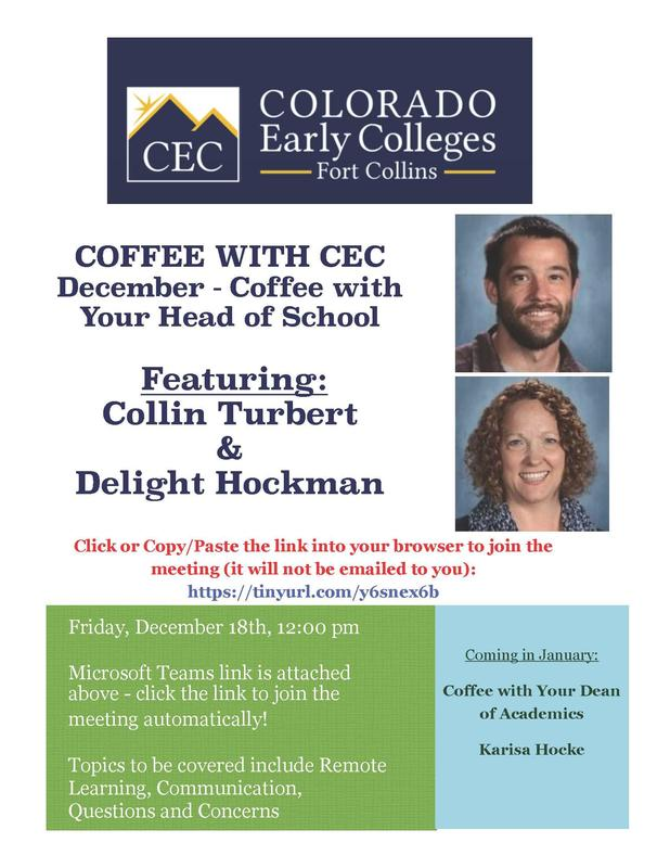 Flyer for Coffee Talk Meeting