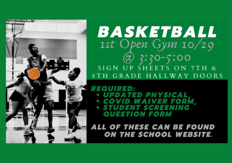 Eighth Grade Girls' Basketball Open Gym Begins this Thursday