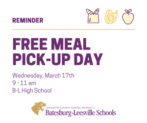 Free Meal Pick-Up Event Planned for March 17th