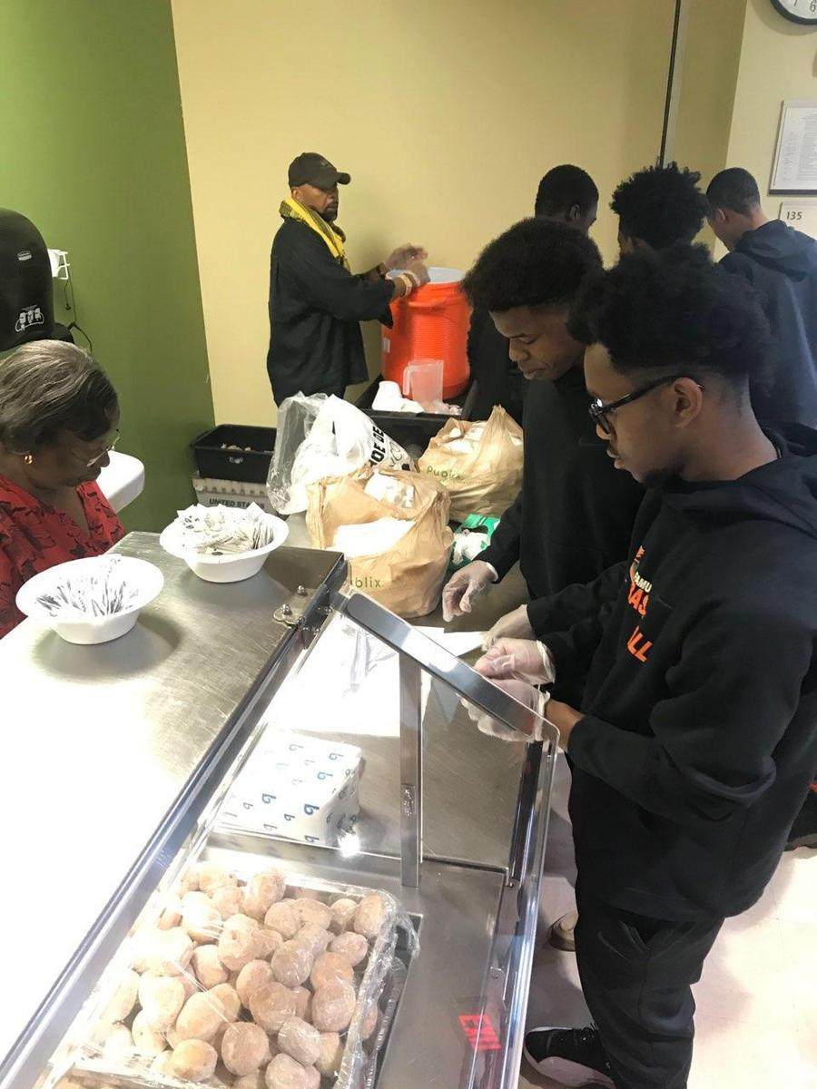 Boy's Basketball Community Service
