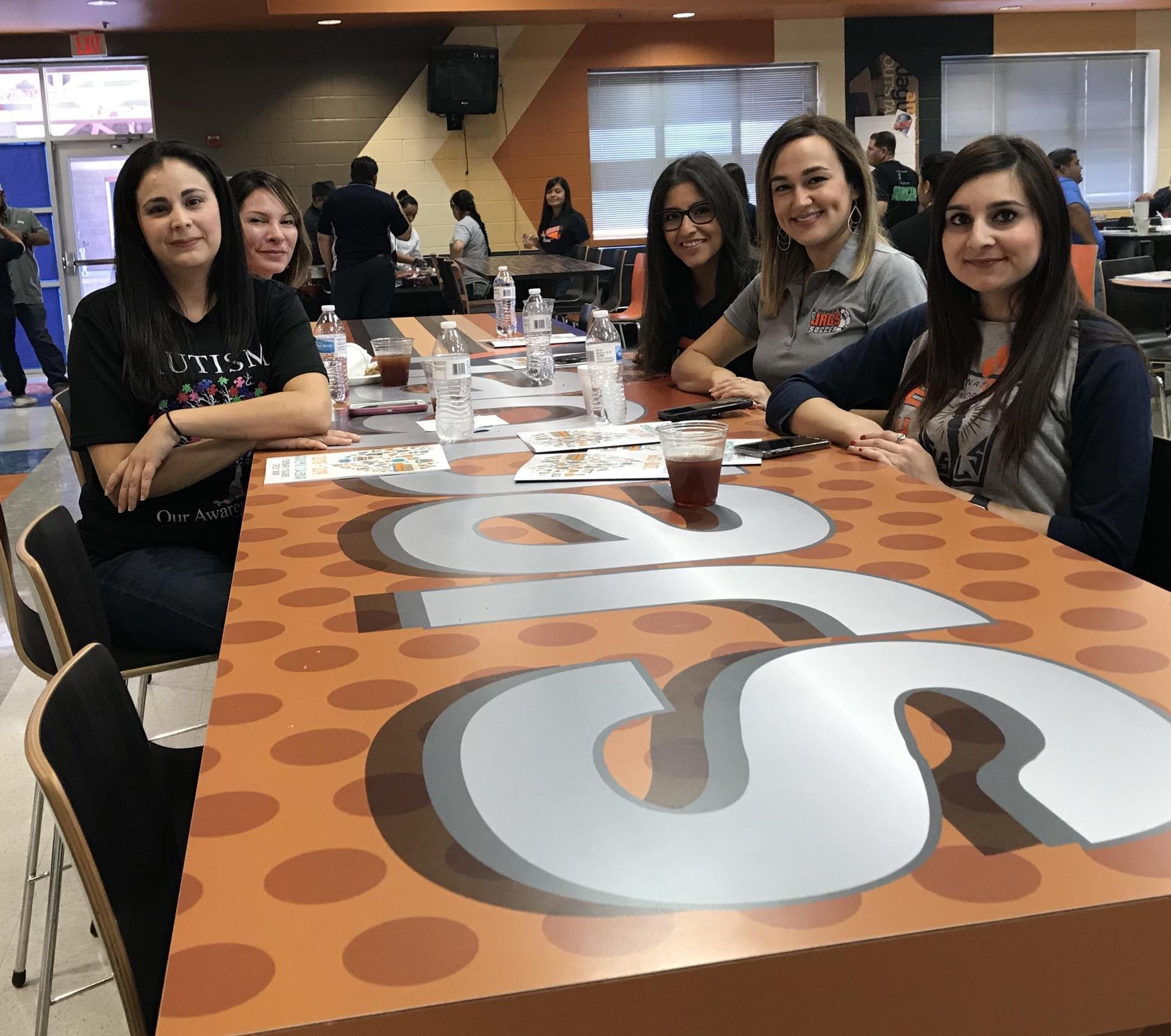 Teachers at JEHS Cafe
