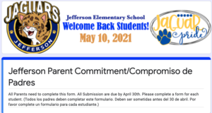 Flyer: Parent Commitment Form