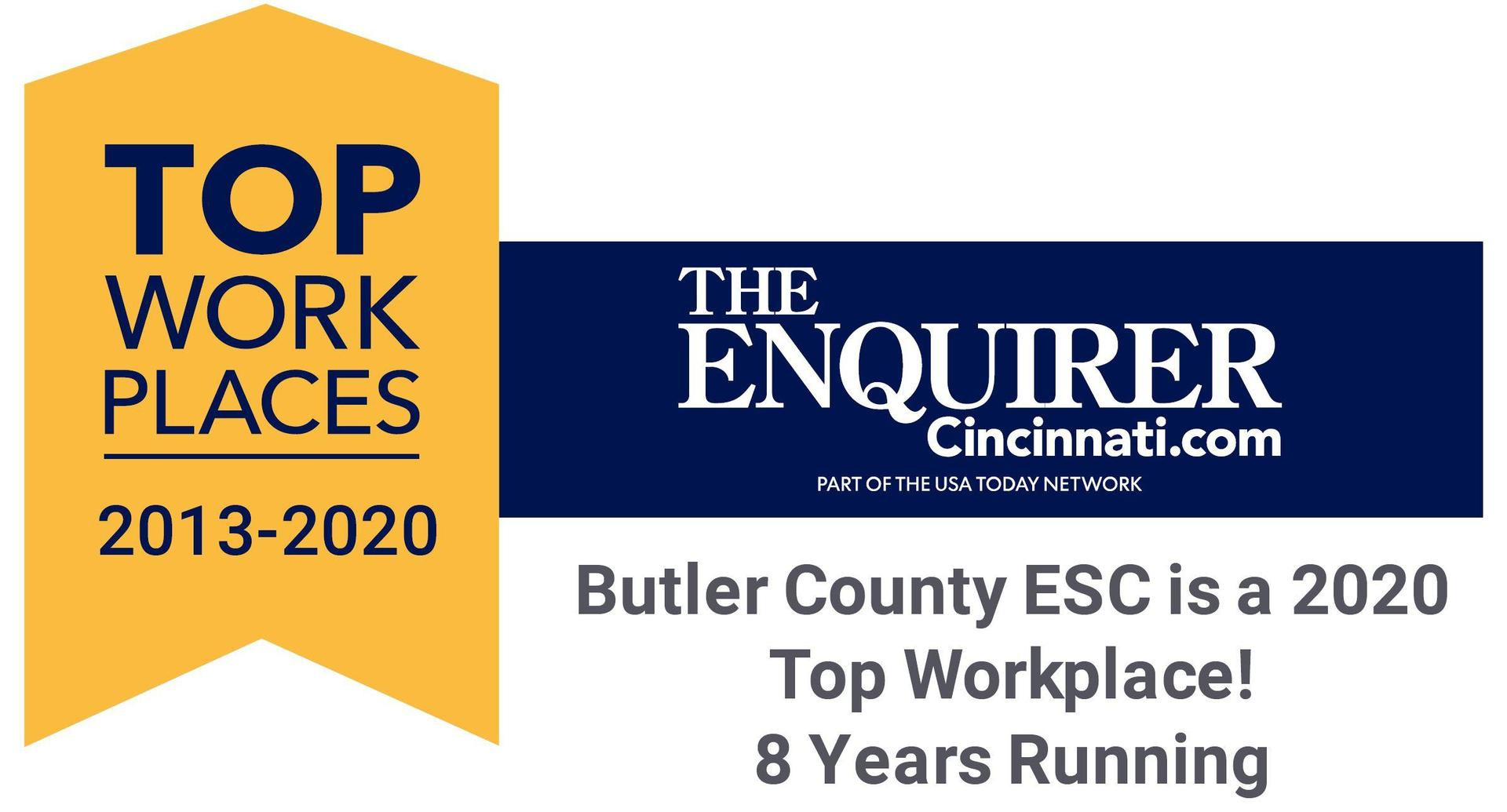 Top Workplaces banner 2013-2020