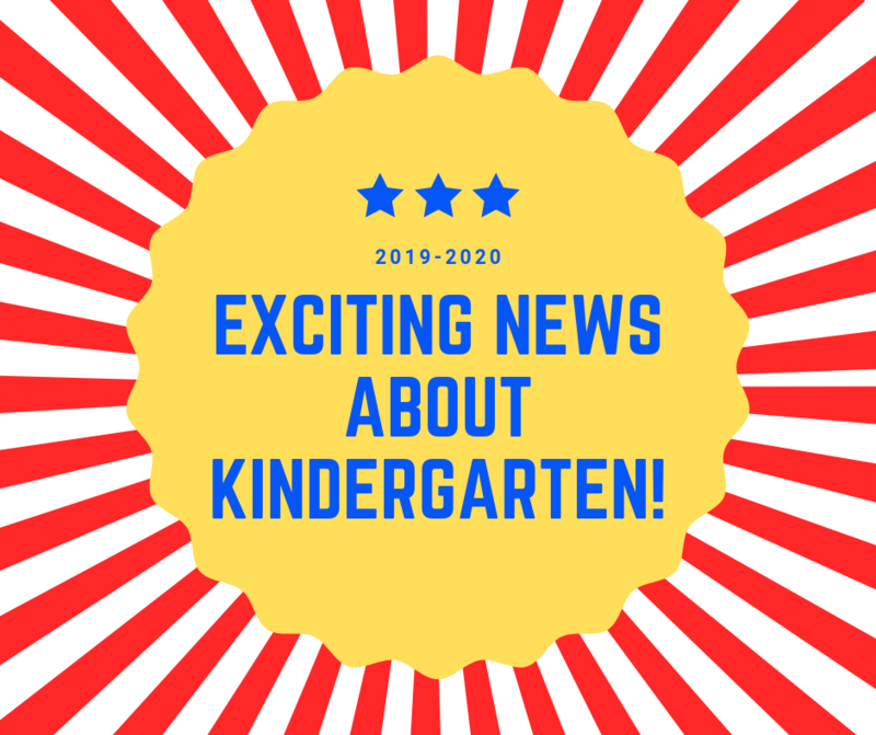 Exciting News about Kindergarten