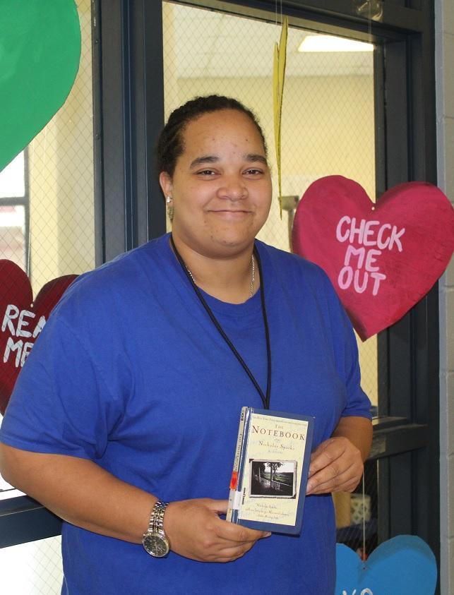 teacher with book