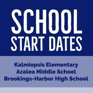 school start date