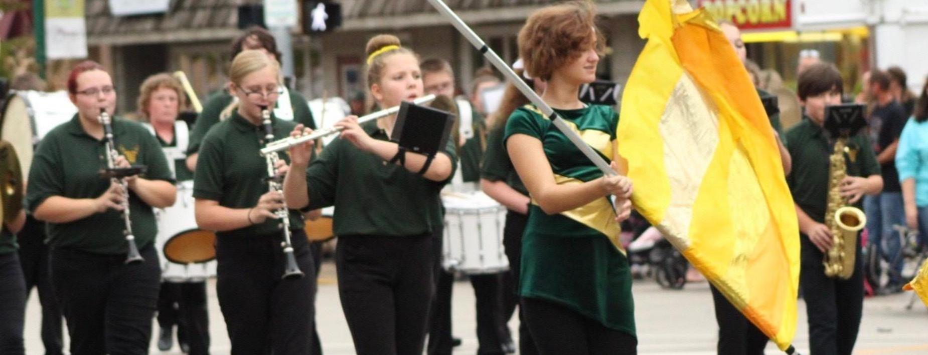 CCMS Band in Cornfest parade