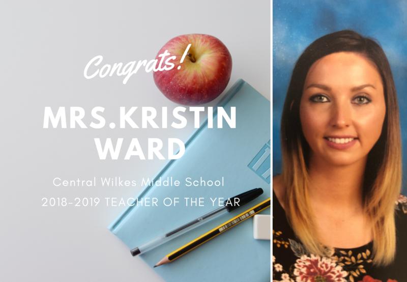 Mrs.Kristin Ward, 2018-2019 Teacher of the Year Thumbnail Image