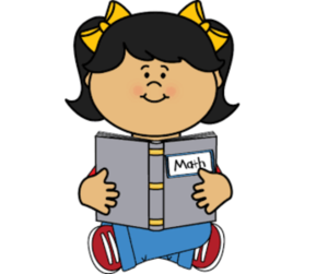 child with math book