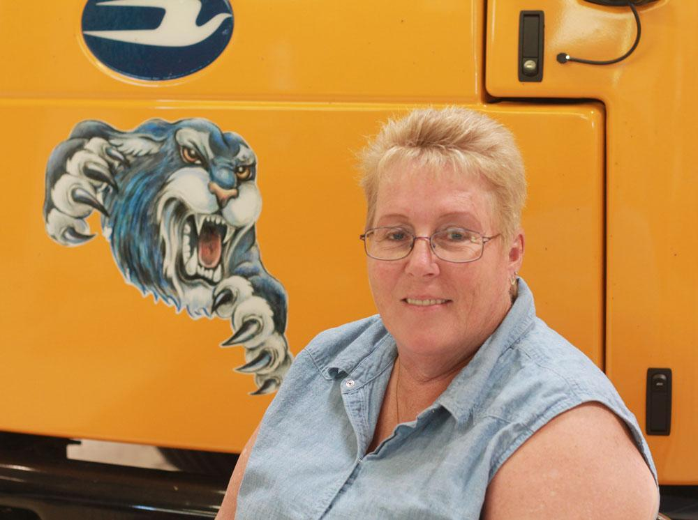 Image of bus driver Sharon Brow