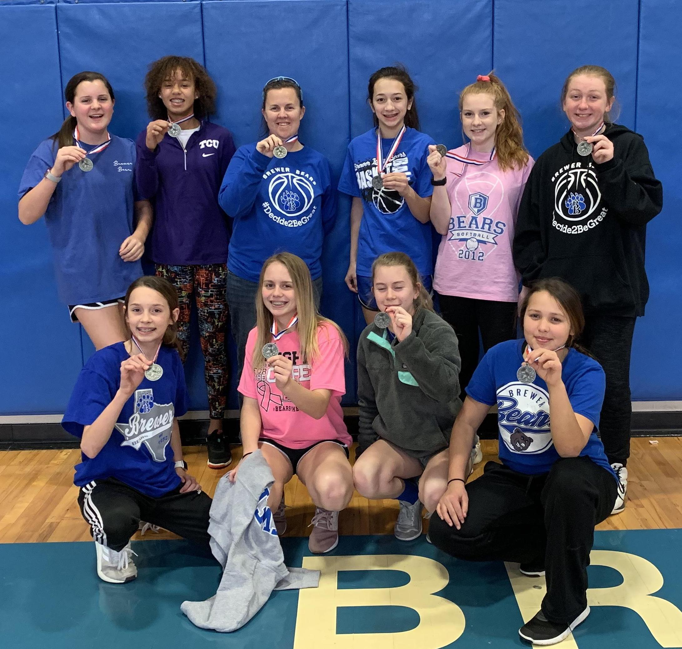 Brewer Middle School's eighth grade A and B teams won finished second in district.
