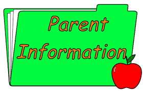 clip art of folder with Parent Information on it
