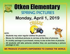 Otken Elementary School Picture Day Spring 2019