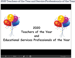 2020 Teachers of the Year