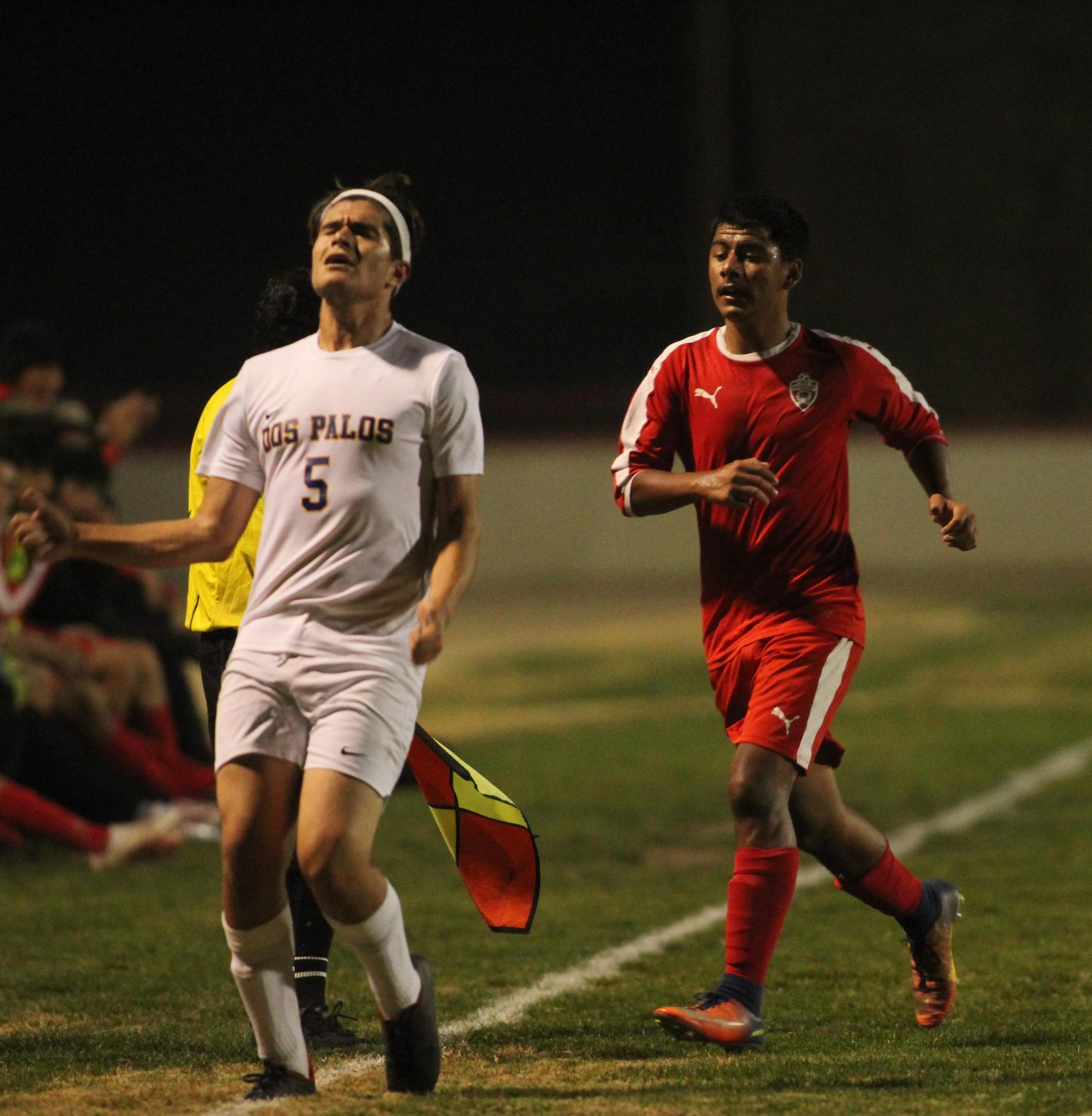 Cristobal Galvan kicking the ball