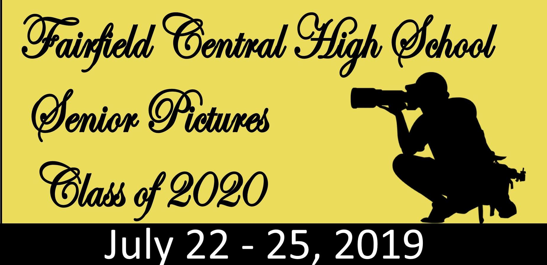 FCHS Senior Pics C/o 2020 July 22-25, 2019