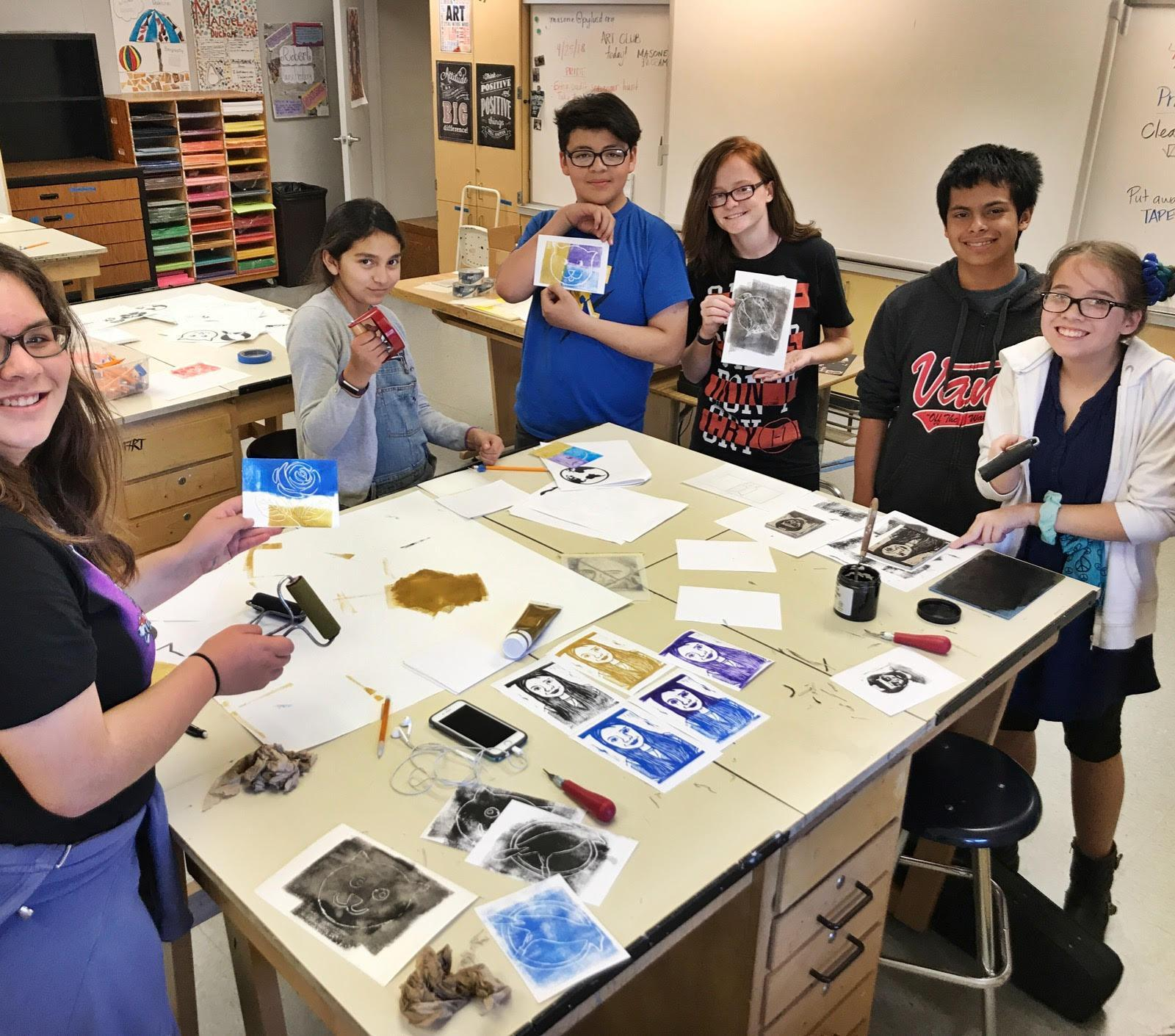 Art Club at Kraemer Middle School