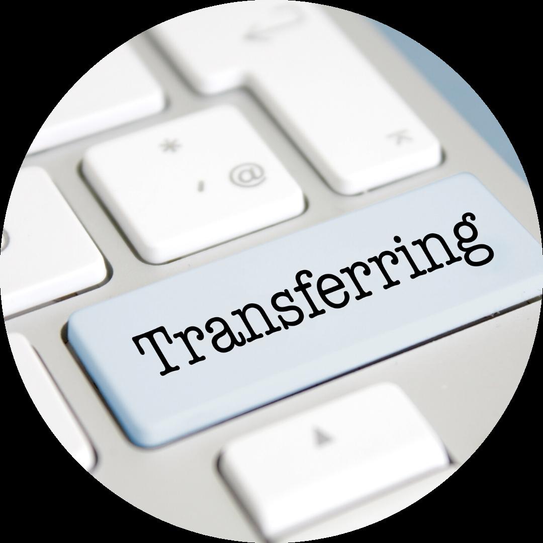 key on keyboard reads transferring