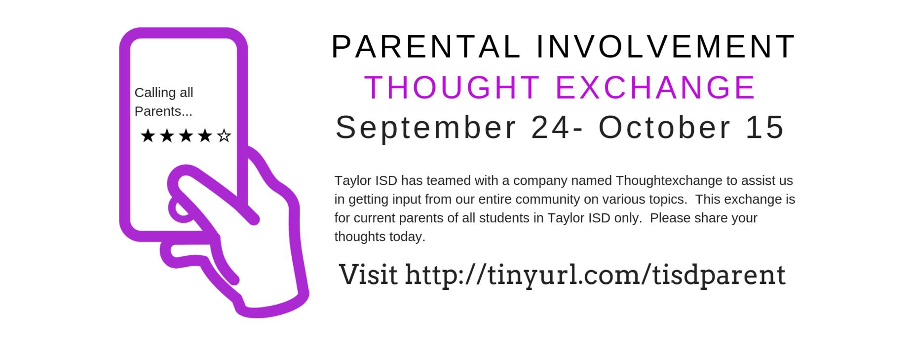 parental involvement thought exchange