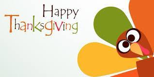 We hope that you all have a Happy Thanksgiving and a good week off! You deserve it!  There will be no school on Monday, 11/30! Featured Photo