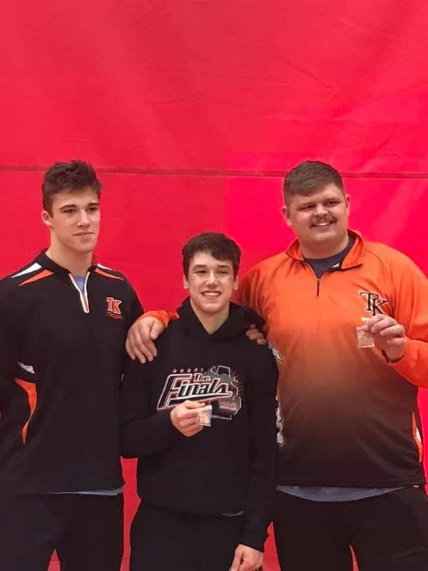 Three TK wrestlers have made it to the state individual competition.