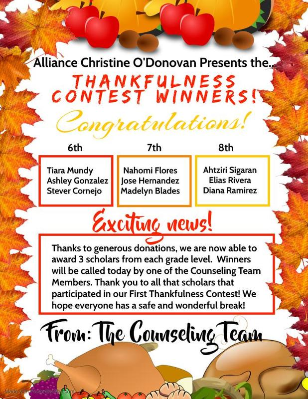 Winners of The Thankfulness Contest Thumbnail Image