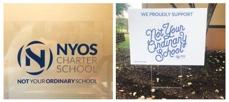 Photos of NYOS banners