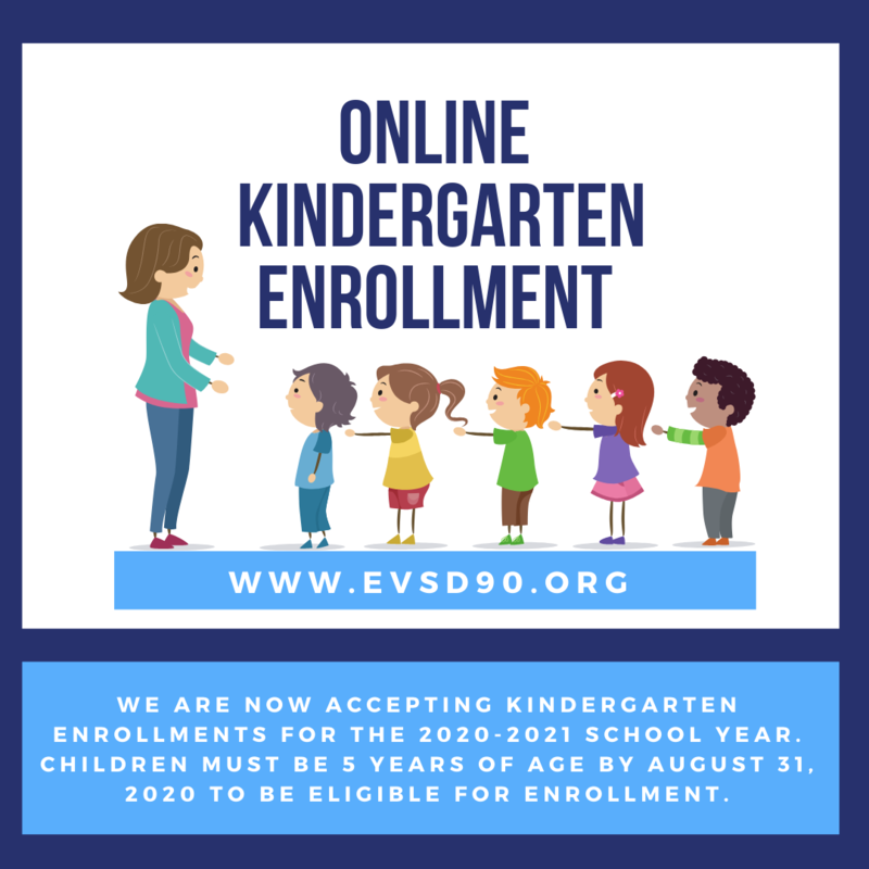 Online kindergarten enrollment now open. Children must be 5 years old by August 31, 2020 to be eligible for enrollment.