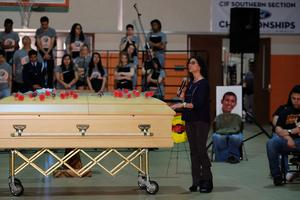 Mock funeral event conducted in 2016 at previous SJHS 'Every 15 Minutes' event.
