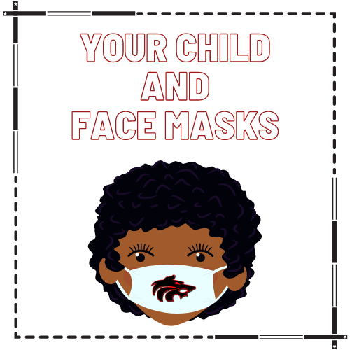 child with a face mask