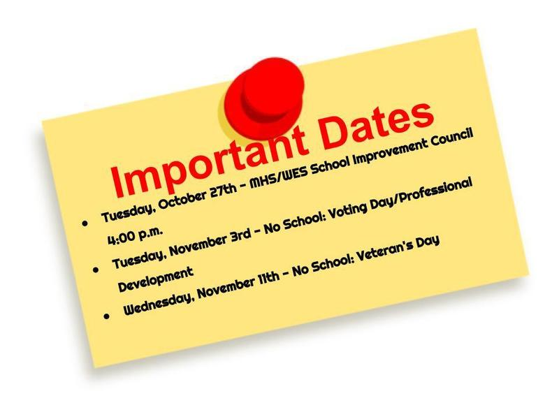 Important Dates Featured Photo