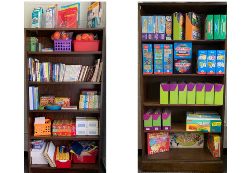 At RCES we have a Parent Resource Center.  Through Title I Funds our Resource Center has games, books, brochures, etc. that can help parents with many different issues concerning their children. These  items are free for parents to check out. Thumbnail Image