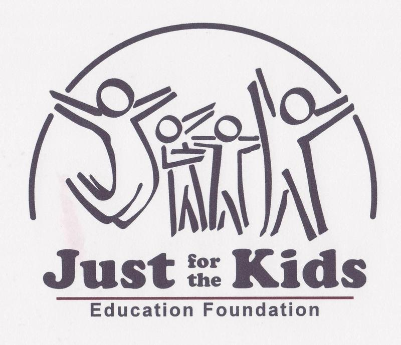Logo - Stick figures of 4 images with the words Just for the Kids Education Foundation