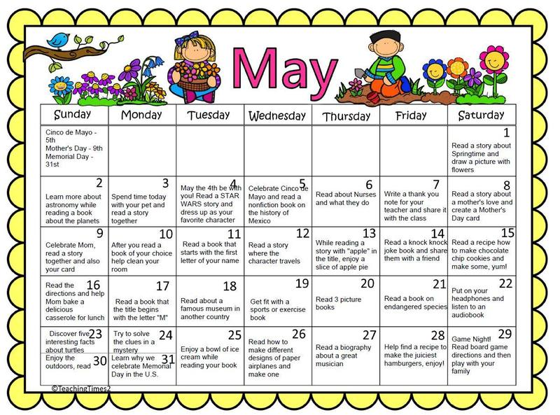 May Calendar Featured Photo
