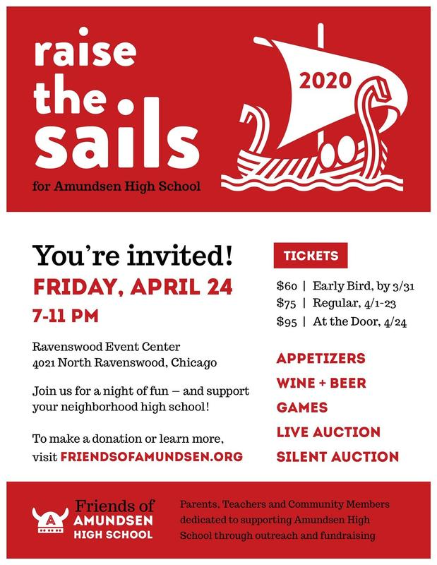 Friends of Amundsen Fundraiser Tickets are now on Sale! Featured Photo