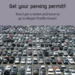 Full parking lot - get your parking permit!