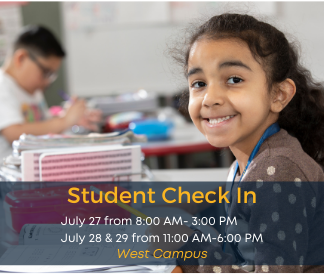 student check in July 27 from 8:00 am-3:00 Pm and July 28 & 29 from 11:00-6:00 PM