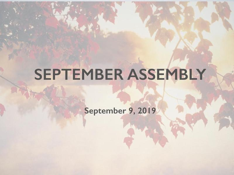 Condor September Assembly Featured Photo