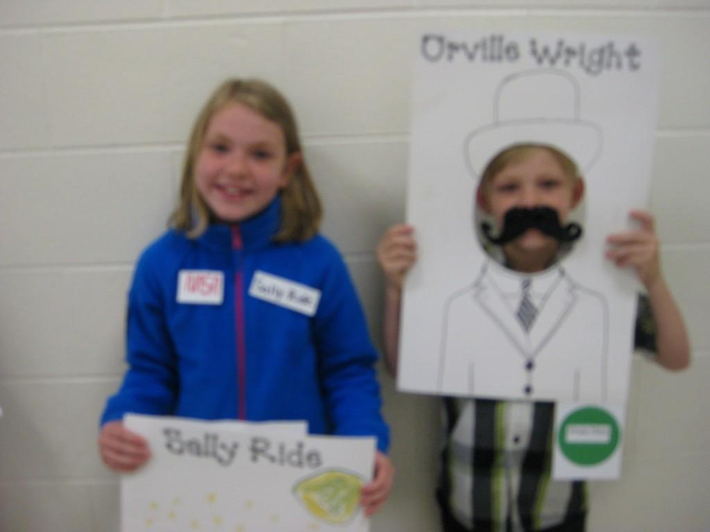 Wax Museum-Sally Ride and Orville Wright