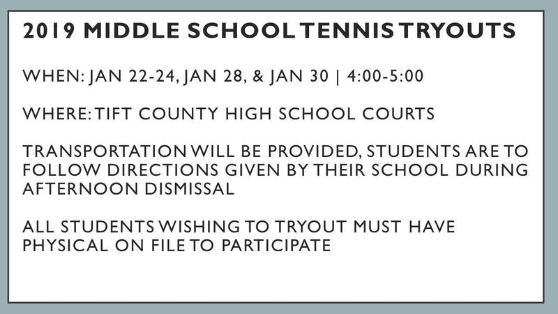 Middle School Tennis Tryouts Featured Photo
