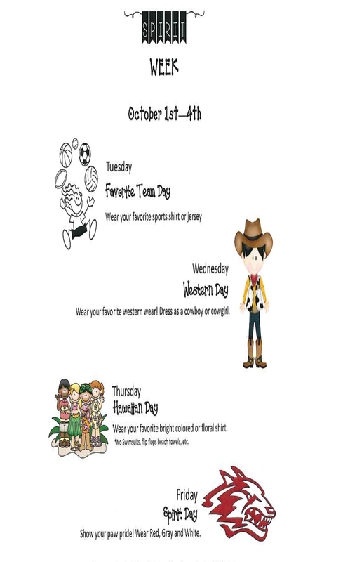 dress-up days flyer