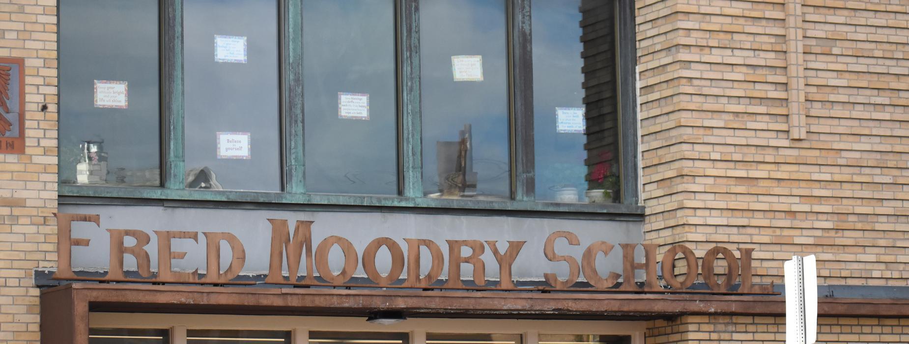 Fred Moodry School Sign