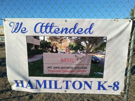 Banner of two prior students currently attending Mt. San Jacinto College