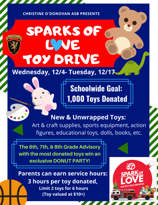 O'Donovan's Sparks of Love Toy Drive Thumbnail Image